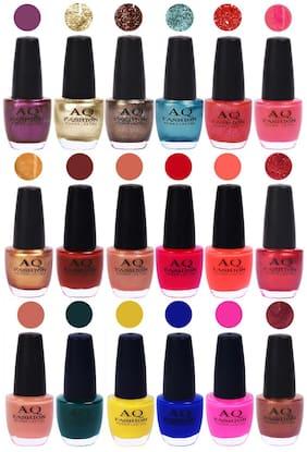 AQ Fashion Hot Shade Gel Nail Polish Combo 983 Pack Of 18