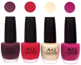 AQ Fashion Velvet Matte Nail Polish Combo Set 48ml Pack of 4