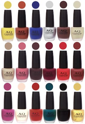 AQ Fashion Velvet Matte Nail Polish 18 pcs Combo Set No. 81155