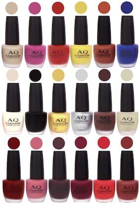 AQ Fashion Velvet Matte Nail Polish 18 pcs Combo Set No. 81130