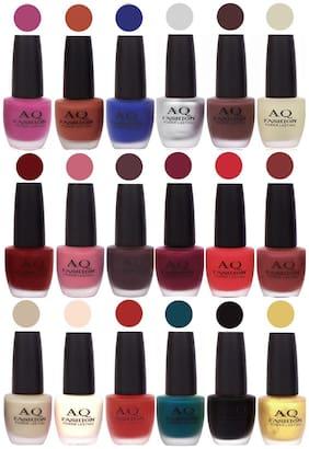 AQ Fashion Velvet Matte Nail Polish 18 pcs Combo Set No. 81149