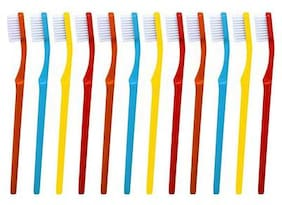 aquawhite ToothBrush Complete Active, Hard Bristles, Pack of 12. (Colour may vary), Health & Personal Care.
