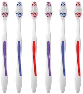 aquawhite ToothBrush Max Clean , Soft Bristles, Pack Of 6. (Colour may vary), Health & Personal Care.