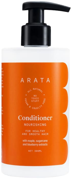 Arata Natural Nourishing Hair Conditioner With Maple, Sugarcane & Blueberry Extracts For Healthy & Smooth Hair - 300 ml