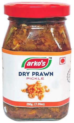 Arko's Homemade Dry Prawn Pickle 200g each (Pack Of 4)