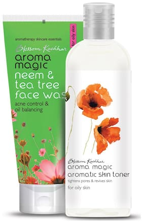 Aroma Magic Combo of Neem and Tea Tree Face Wash & Aromatic Skin Toner - 200ml