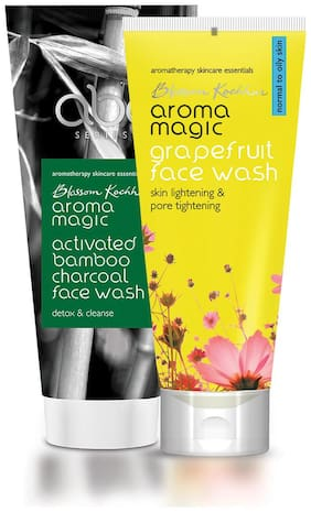 Aroma Magic Combo of Activated Bamboo Charcoal Face Wash & Grapefruit Face Wash - 200ml
