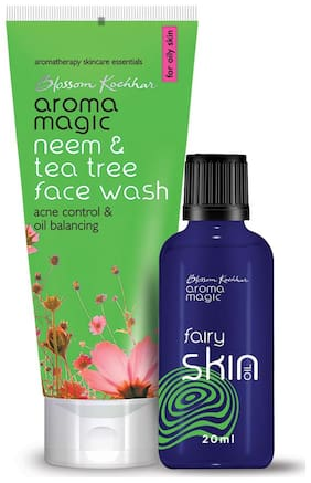 Aroma Magic Combo of Fairy Oil & Neem and Tea Tree Face Wash - 120ml
