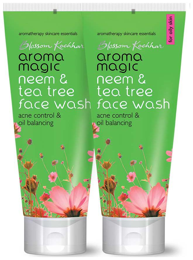 Aroma Magic Neem & Tea Tree Face Wash 50 ml each (Pack of 2)
