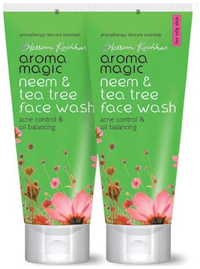 Aroma Magic Neem & Tea Tree Face Wash 50 ml each (Pack of 2)