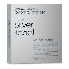 Aroma Magic Silver Facial Kit Normal to dry and sensitive skin - (Sachet)35gPack of 1