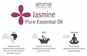 Aroma Treasures Jasmine Absolute Essential Oil (10% In Jojoba Oil) 5 ml
