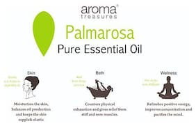 Aroma Treasures Palmarosa Essential Oil - 100% Pure & Natural 10 ml