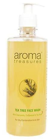 Aroma Treasures Tea Tree Face Wash - For Oily/Combination/Acne Prone Skin 500 ml