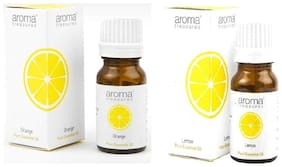 Aroma Treasures - Orange and Lemon Vitamin C Essential oil combo - 10 ml each,
