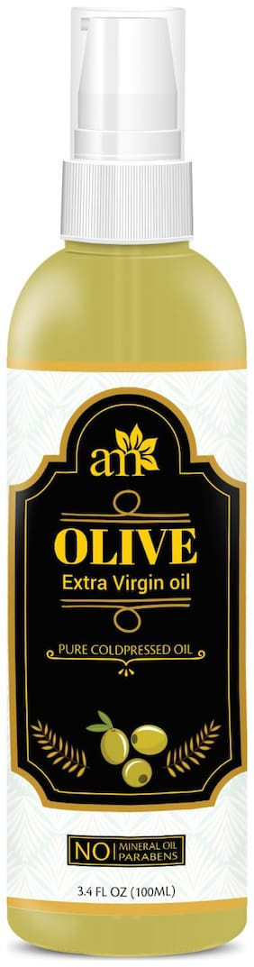 AromaMusk 100% Pure Cold Pressed Extra Virgin Olive Oil For Hair And Skin, 100ml