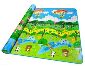 Artistque Double sided, Anti Skid Waterproof Baby Play and Crawl Mat with 10mm Thickness- 6x4 Feet ( Large)