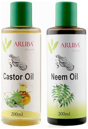 Aruba Essentials Castor & Neem Oil Each 200 ml