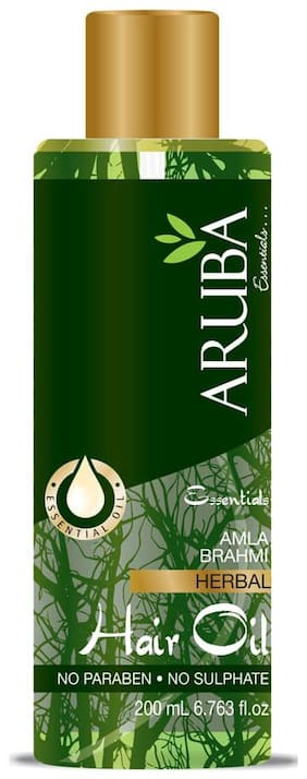 Aruba Essentials Amla Brahmi Herbal Hair Oil (200 ml )