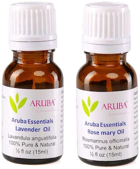 Aruba Essentials Lavender  Oil & Rosemary  Oil  100% Undiluted Combo of 15 ml each