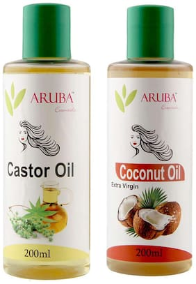 Aruba Essentials Castor & Coconut (Extra Virgin) Oil Each 200 ml
