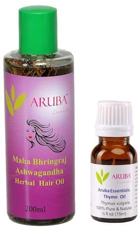 Aruba Essentials Maha Bhringraj - Ashwagandha & Thyme Herbal Hair Oil