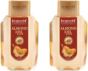 Aryanveda Almond & Olive Hair Oil for All Hair Type 200ml (Pack of 2)