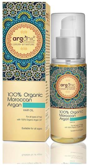 Aryanveda Arganic 100% Organic Moroccan Argan Hair Oil for Hair Growth 100 ml