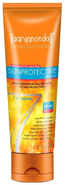 Aryanveda Unisex Sunscreen Lotion With Spf 40 All Skin Type 60ml