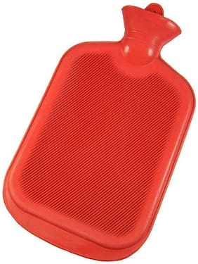 Aryshaa Rubber Bottle Hot Water Bottle Heating Rubber Warm Bag For Pain Relief Assorted Colours (Pack of 1)