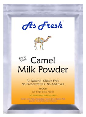 As Fresh Camel Milk Powder 400g-20 single serve of 20 g each (Freeze Dried No Preservatives Gluten Free)