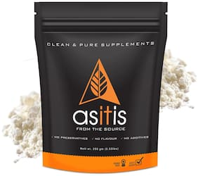 As-It-Is Nutrition Whey Protein Concentrate 80% Protein Unflavored - 250 gm
