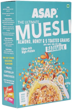 ASAP Ultimate Muesli - BADAM MILK (Almonds/Honey & 5 toasted grains) - 420g