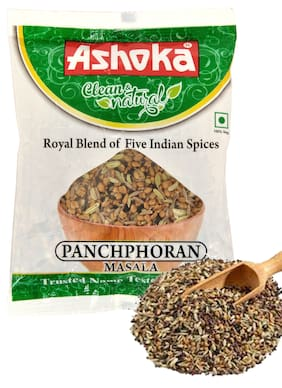 Ashoka Panchphoran Masala (Royal Blend of Five Indian Whole Spices) Pack of 5 Pouches of 50 g Each