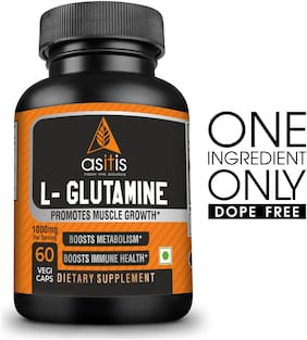 AS-IT-IS Nutrition L-Glutamine Boosts Immune Health 1000Mg 60 Capsules