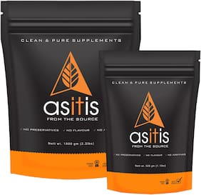Asitis Nutrition AS-IT-IS Mass Gainer -1 kg and 500 g | Carb & Protein Ratio 2:1| Do-It-Yourself Mass Gainer |Unflavoured
