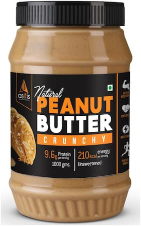 Asitis Nutrition Peanut Butter Crunchy (Natural & Unsweetened) 1Kg