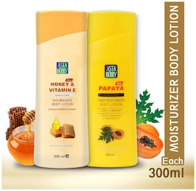 Astaberry Body Lotion Honey Vitamin E & Papaya -300ml(pack 2)
