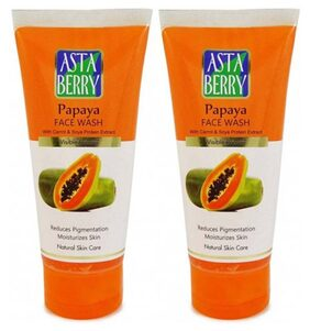 Astaberry Papaya Face Wash (100 ml) Pack Of 2