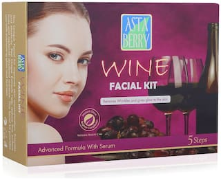 Astaberry Wine Facial Kit Medium - Removes Wrinkles 270 GM