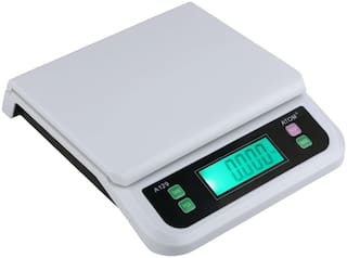 ATOM - 129 Digital Compact Weighing Scale (Platinum) For Kitchen;Departmental Store With Max Capacity 25 kg
