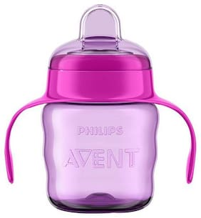 Avent Classic Soft Spout Cup Pink/Purple 200 ml