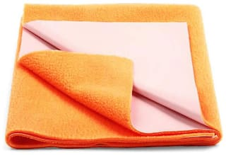 AVI Presents New Born Baby Dry Sheet Completely Water Proof and Reusable Mat Bed Protector Absorbent Dry Sheets (20x28inch) - Orange