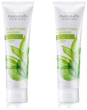 Avon Naturals Green Tea & Tea Tree oil Purifying cleanser 100 g each (Set of 2)