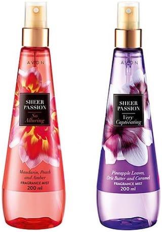 Avon Sheer Passion (Alluring & Captivatin gm) - 200 ml Each Body Mist - For Women Girls