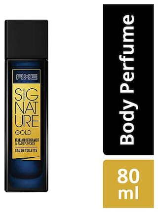 Axe Signature Gold Italian Bergamot & Amber Wood Perfume  80 ml