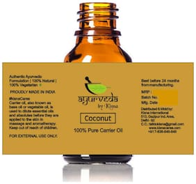 Ayurveda By Kisna Coconut Carrier Oil