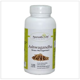 Ayurvedic Life Ashwagandha root capsule,350 mg Hygenically processed Ashwagandha root Powder and extract blend - 120 capsule for stress response, Vitality