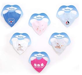 Baby Bandana Bibs, Unisex 6-Pack Gift Set for Drooling and Teething, Organic