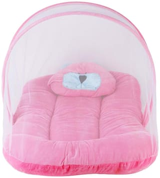 Baby Corn Mosquito Protector Comfy Baby Net Bed Pink